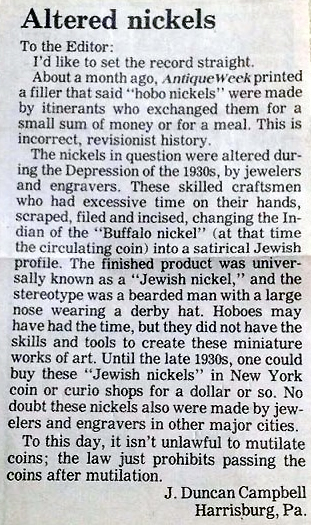 Alterned Nickels Article