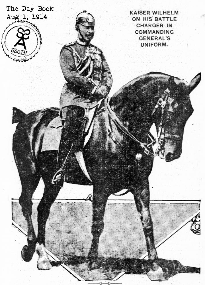 Kaiser Wilhelm II on his horse